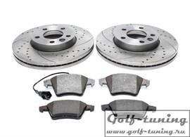 VW T5/Tourareg Комплект спортивных тормозных дисков и колодок
