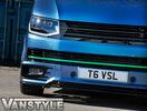 VW T6 15- Решетка радиатора без значка глянцевая