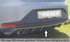 Seat Leon 5F FR 12-17 Диффузор для заднего бампера carbon look