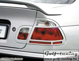 BMW E46 Седан Накладки на фонари carbon look