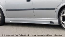 Opel Astra G 5Дв Накладки на пороги Carbon Look