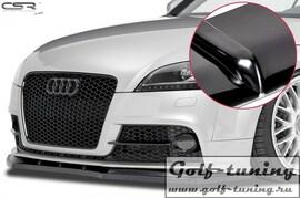 Audi TT 8J 06-14 Накладка на передний бампер Cupspoilerlippe глянцевая