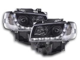 VW T4 96-03 Фары Devil eyes черные