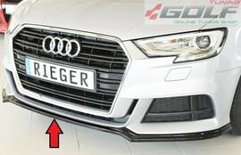 Audi A3 8V 16- Накладка на S-Line передний бампер/сплиттер глянцевая