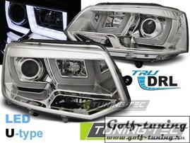 VW T5 09-15 Фары U-TYPE хром