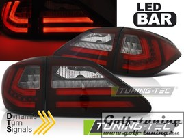 Lexus RX III 350 09-12 Фонари светодиодные, красно-белые с бегающим поворотником