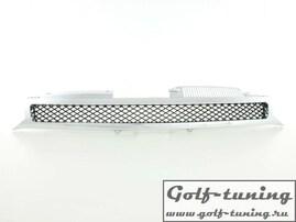 VW Golf 6 Решетка радиатора без значка с хром полосками