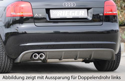 Audi A3 8P 5D 08-12 Диффузор для заднего бампера carbon look