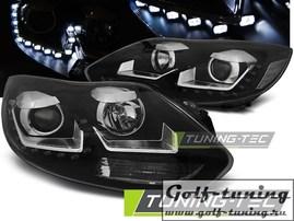 Ford Focus 3 11-14 Фары Devil eyes, Dayline черные