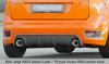 Ford Focus 2 ST 04-08 Диффузор для заднего бампера черный, глянцевый