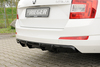 Skoda Octavia A7 13-19 Седан/Универсал Накладка на задний бампер/диффузор глянцевая