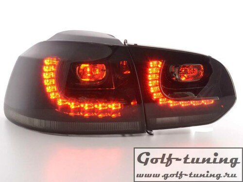 VW Golf 6 Фонари светодиодные, тонированные R-Look