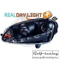 VW Golf 5 Фары Devil eyes, Dayline черные под ксенон