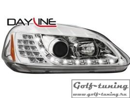 Honda Civic 99-02 2+5d Фары Devil eyes, Dayline хром с светодиодным поворотником