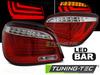 BMW E60 LCI 07-10 Фонари led bar красно-белые