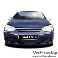 VW Golf 5 Решетка радиатора без значка с хром полосками