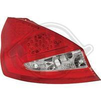 Ford Fiesta 08-12 Фонари светодиодные, красно-белые