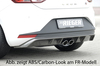 Seat Leon 5F 12-16 Диффузор для заднего бампера черный, глянцевый