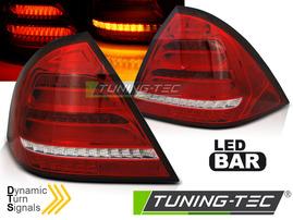 MERCEDES W203 Седан 00-04 Фонари led bar design красно-белые с бегающим поворотником