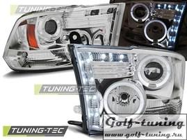 Dodge Ram 09-11 Фары Angel eyes хром