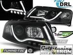 Audi A6 4F 04-08 Фары Tube Lights под ксенон черные