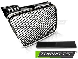 Audi A4 B7 04-08 Решетка радиатора без значка хром RS-Type