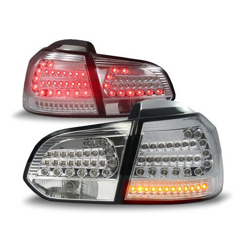 VW Golf 6 Фонари светодиодные, хром с светодиодным поворотником Urban style
