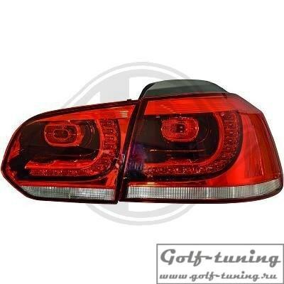 VW Golf 6 Фонари светодиодные, красно-белые R20 Look