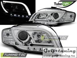 Audi A4 B7 04-08 Фары Led Tube Lights хром