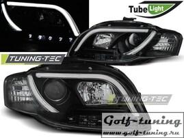 Audi A4 B7 04-08 Фары Led Tube Lights черные