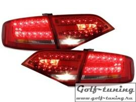 Audi A4 B8 07- Седан Фонари светодиодные, красно-тонированные