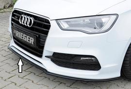Audi A3/S3 8V 12-16 3/5Дв Сплиттер глянцевый для оригинального S-Line бампера
