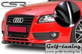 Audi A5 07- Накладка на передний бампер глянцевая