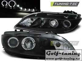 Mazda 6 02-07 Фары Devil eyes, Dayline с ангельскими глазками и линзами черные