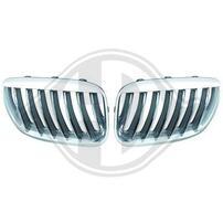 BMW X5 03-07 Решетки радиатора (ноздри) хром