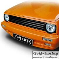 VW Golf 2 Решетка радиатора без значка под 2 фары черная