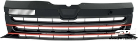 VW T5 GP 09-15 Решетка радиатора без значка с красными полосками
