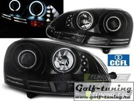 VW Golf 5 03-09 Фары Angel eyes черные