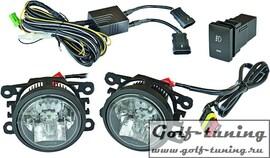 Ford Focus 07-11 Светодиодные противотуманные фары хром HD 4464488