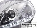 Fiat Grande Punto 05-08 Фары Devil eyes, Dayline хром