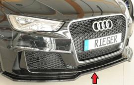 Audi RS3 8V 15-17 Сплиттер для переднего бампера глянцевый