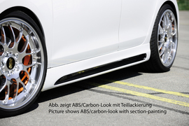 VW Golf 6 Накладки на пороги Carbon Look