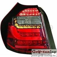 BMW E87 07-11 Фонари Lightbar design красно-тонированные