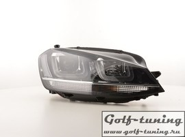 VW Golf 7 12-17 Фары GTI Look с хром полосой