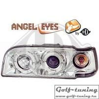 Volvo 850 92-97 Фары с линзами и ангельскими глазками хром