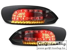 VW Scirocco 08-14 Фонари светодиодные, черно-тонированные с светодиодным поворотником