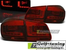 VW Tiguan 11-15 Фонари светодиодные, красно-тонированные
