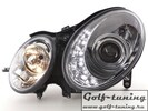 Mercedes W211 06-09 Фары Devil eyes, Dayline хром