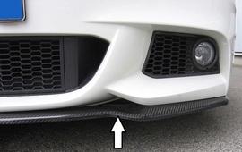 BMW F10/F11 10- Накладка на M-Technic передний бампер/сплиттер карбоновая