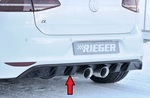VW Golf 7 R 12-17 Диффузор для заднего бампера глянцевый